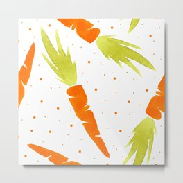 Watercolor carrot Metal Print