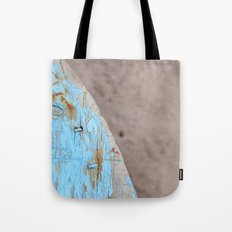 Turquoise Beach Wood I Tote Bag