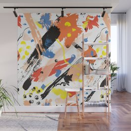 Abstract Floral Splash Wall Mural