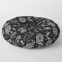 Conspiracy pattern Floor Pillow