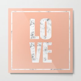 Love Marble Design 047 Metal Print