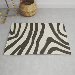Painted Zebra Rug