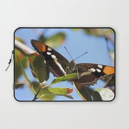 California Sister Butterfly on Oak Leaves Laptop Sleeve