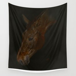 Bay Horse, Belgian Warmblood. Wall Tapestry