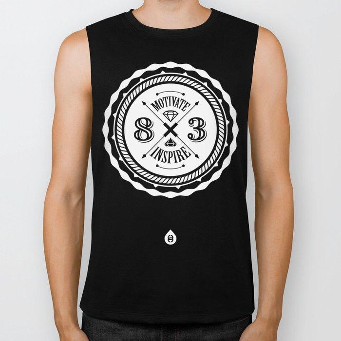 Motivate & Inspire (White) Biker Tank