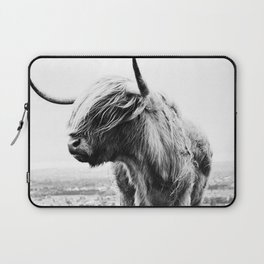 Highland Cow Art Laptop Sleeve