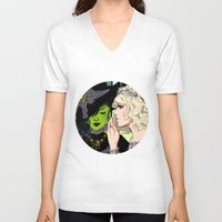 wicked V-neck T-shirts featuring Wicked by Natalie Nardozza