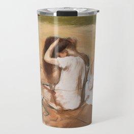 Edgar Degas - Women Combing Their Hair Travel Mug