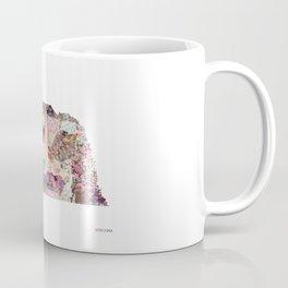 Nebraska map Landscape Coffee Mug