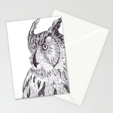 Horned Owl Stationery Cards
