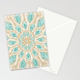 MMMOYSTERS Gold-Rimmed Oyster Mandala Stationery Cards