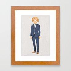 Posing Poodle Framed Art Print