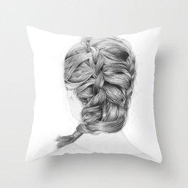 French Braid Throw Pillow