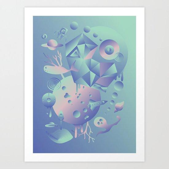 Geometromorphic Ocean Art Print