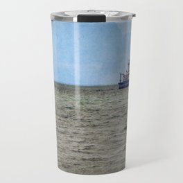 Lake Huron 14 Foot Shoal Lighthouse Great Lakes Light Station Travel Mug