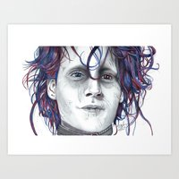 eddie vedder Art Prints featuring Eddie by ShayMacMorran