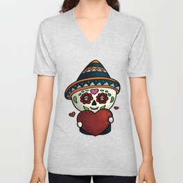 Cheerful calavera Unisex V-Neck