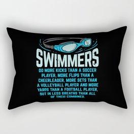 Swimmers Do More Kicks - Gift Rectangular Pillow