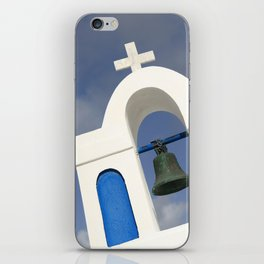 Bell tower - Santorini iPhone Skin