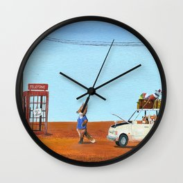 The Out of Service Phone Box Wall Clock