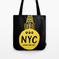 nyc Tote Bags featuring NYC by Kathryn Nyquist