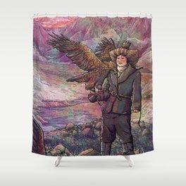 Eagle Huntress Shower Curtain