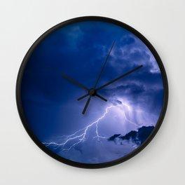 night lightning Wall Clock