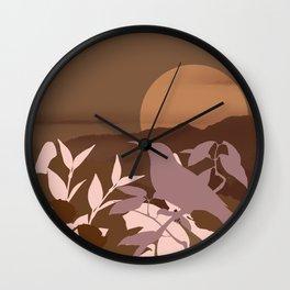 Brown Landscape Wall Clock