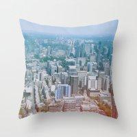 toronto Throw Pillows featuring Toronto by Sami Kelsh