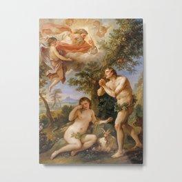 The Rebuke of Adam and Eve by Charles Joseph Natoire, 1740 Metal Print