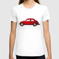 volkswagen T-shirts featuring red volkswagen  by Arefin