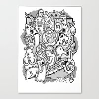 family Canvas Prints featuring family by ybalasiano
