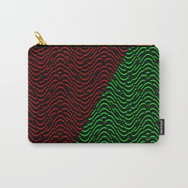 Trippy Triangle Color-Split (Red/Green) Carry-All Pouch