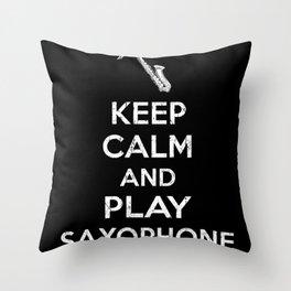 Saxophone Saying Throw Pillow