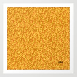 Feathered Flocks - Tangerine Art Print