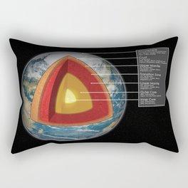 Earth - Cross Section Rectangular Pillow