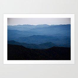 Shades of Blue- Smoky Mountains Art Print