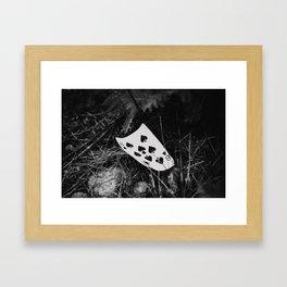 8 of spades Framed Art Print