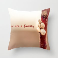 We Are a Family Throw Pillow