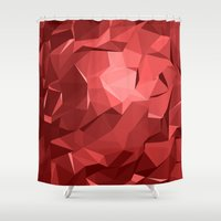polygon Shower Curtains featuring Polygon 11 by Jambot