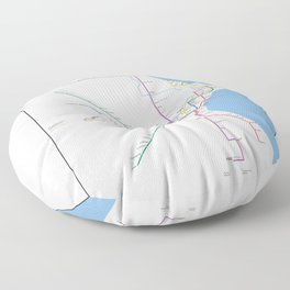Milwaukee Transit System Map Floor Pillow