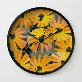 Pine Sunflower Sirocco Wall Clock