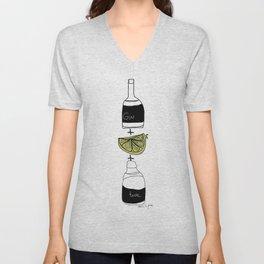 Gin and Tonic Unisex V-Neck