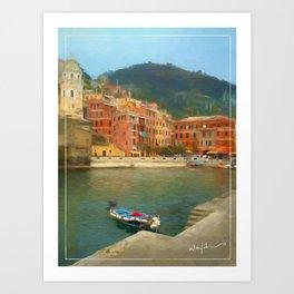 Calm Vernazza Art Print