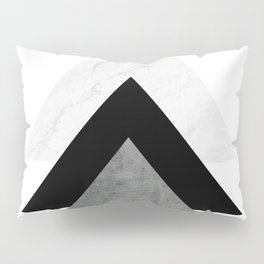 Arrows Monochrome Collage Pillow Sham