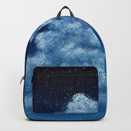 Midnight Blue Cloud Painting Backpack