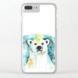Polar Bear - Like a Boss Clear iPhone Case
