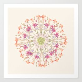 Floral endeavour- Mandala Art Print
