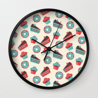 happy birthday Wall Clocks featuring happy birthday  by marella