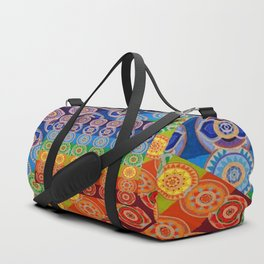 7 CHAKRA SYMBOLS OF HEALING ART #2 Duffle Bag